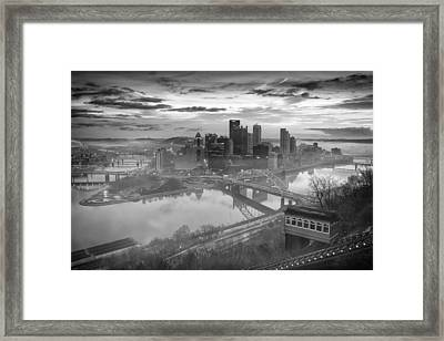 Pittsburgh Architecture 10 Bw Framed Print by Emmanuel Panagiotakis