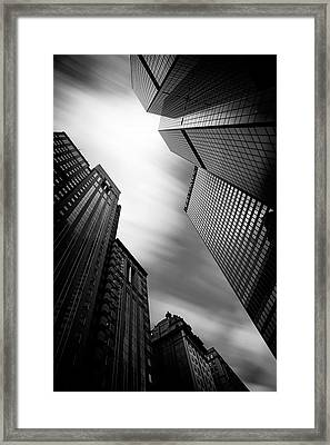 Pittsburgh Architecture 65bw Framed Print by Emmanuel Panagiotakis
