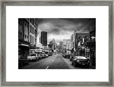 Pittsburgh Architecture 9bw Framed Print by Emmanuel Panagiotakis