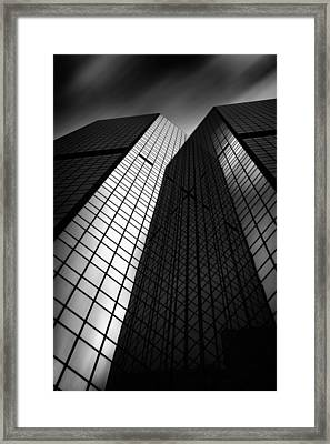 Pittsburgh Architecture75bw Framed Print by Emmanuel Panagiotakis