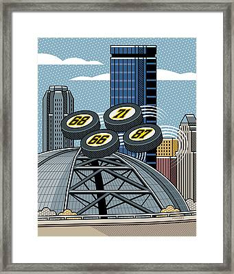 Pittsburgh Civic Arena Framed Print by Ron Magnes
