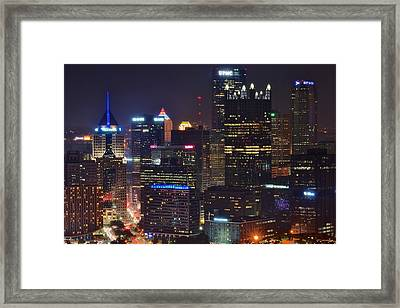Pittsburgh Close Up From Above Framed Print by Frozen in Time Fine Art Photography
