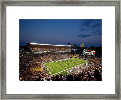 Pittsburgh Heinz Field At Dusk Framed Print by Will Babin