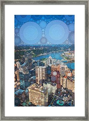 Pittsburgh In Pixels Framed Print by Amy Cicconi