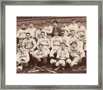 Pittsburgh National League Baseball Team Framed Print by American School