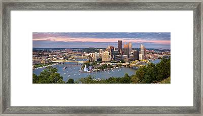 Pittsburgh Pano 23 Framed Print by Emmanuel Panagiotakis