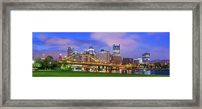 Pittsburgh Pano 9 Framed Print by Emmanuel Panagiotakis