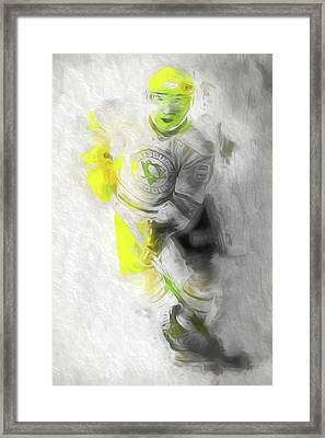 Pittsburgh Penguins Nhl Sidney Crosby Painting Fantasy Framed Print by David Haskett