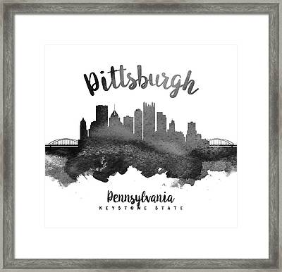 Pittsburgh Pennsylvania Skyline 18 Framed Print by Aged Pixel