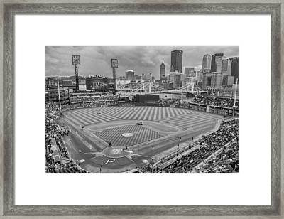 Pittsburgh Pirates 1a Bw Pnc Park Framed Print by David Haskett