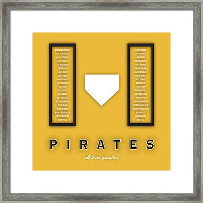 Pittsburgh Pirates Greatest Framed Print by Damon Gray