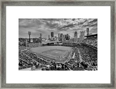 Pittsburgh Pirates Pnc Park Bw X Framed Print by David Haskett