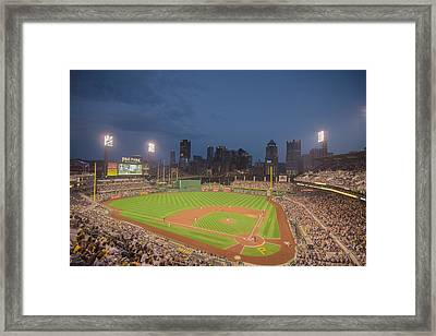 Pittsburgh Pirates Pnc Park X2 Framed Print by David Haskett