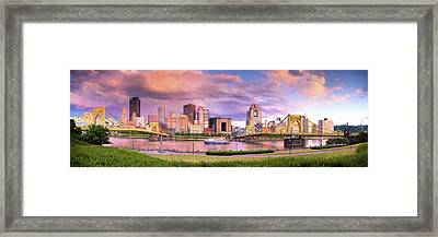 Pittsburgh Skyline After The Storm  Framed Print by Emmanuel Panagiotakis