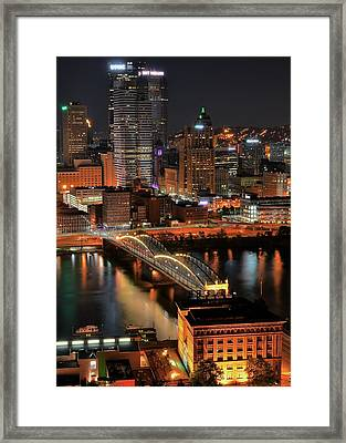 Pittsburgh Standing Tall Framed Print by Frozen in Time Fine Art Photography