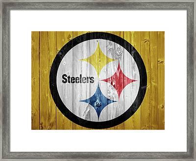 Pittsburgh Steelers Barn Door Framed Print by Dan Sproul