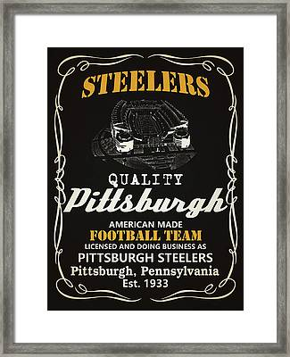 Pittsburgh Steelers Whiskey Framed Print by Joe Hamilton