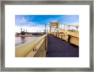 Pittsburgh Wide Bridge  Framed Print by Paul Scolieri
