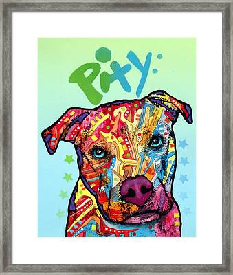 Pity Framed Print by Dean Russo