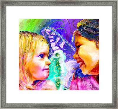 Pixies Framed Print by Rebecca Tabor