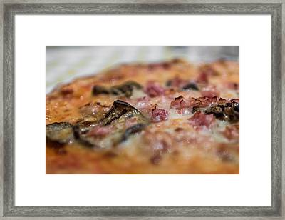 Pizza With Vegetables Framed Print by Germano Poli