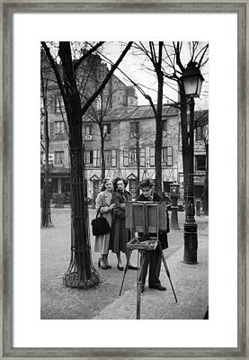 Place Du Tertre Framed Print by Kurt Hutton