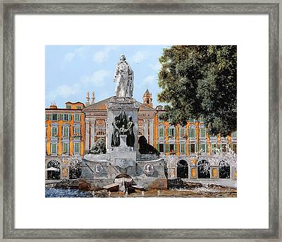 Place Garibaldi In Nice  Framed Print by Guido Borelli