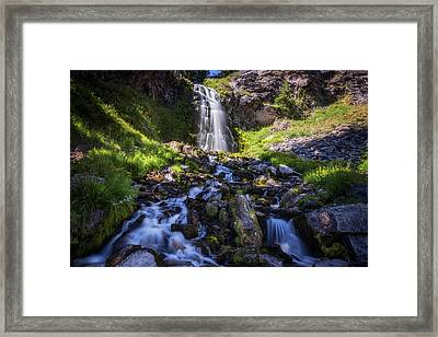 Plaikni Falls Framed Print by Cat Connor