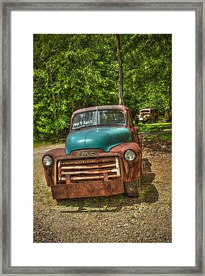 Plain Jane 1952 Gmc Pickup Truck Framed Print by Reid Callaway