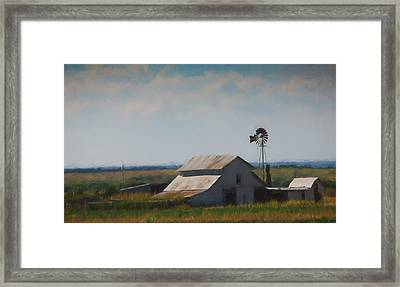 Plains Painted Barn Framed Print by Jonas Wingfield