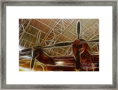 Plane In The Hanger Framed Print by Paul Ward