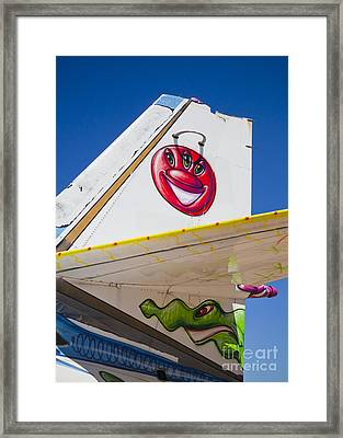 Planely An Alien Framed Print by Chris Dutton