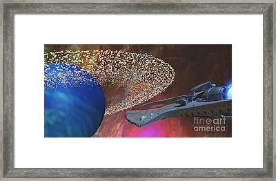Planet Asteroids Framed Print by Corey Ford