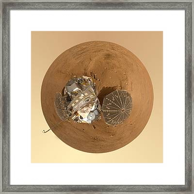 Planet Mars Via Phoenix Mars Lander Framed Print by Nikki Marie Smith