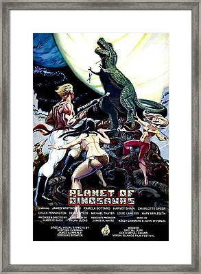 Planet Of Dinosaurs, 1-sheet Poster Framed Print by Everett