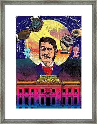 Planetary Assembly Framed Print by Eric Edelman