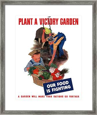 Plant A Victory Garden  Framed Print by War Is Hell Store