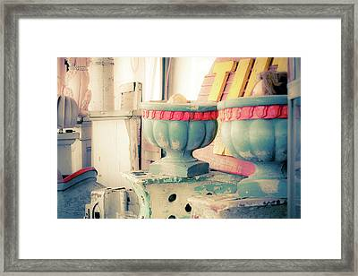 Planters With Hidden Treasures Framed Print by Toni Hopper