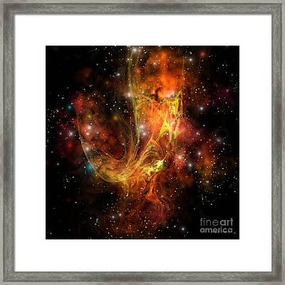 Plasma Drift Framed Print by Corey Ford