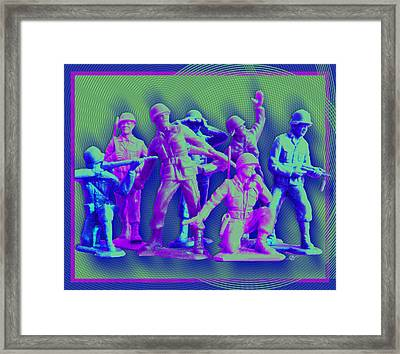 Plastic Army Man Battalion Pop Framed Print by Tony Rubino