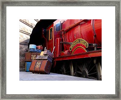 Platform Nine And Three Quarters Framed Print by Julia Wilcox