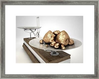 Platinum Nuggets Framed Print by Allan Swart