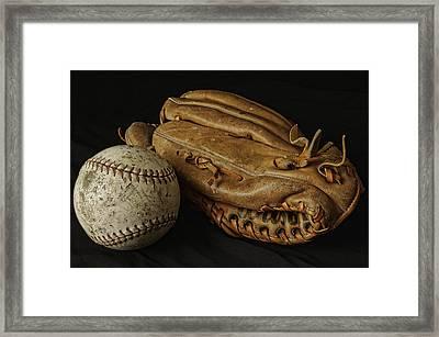 Play Ball Framed Print by Richard Rizzo