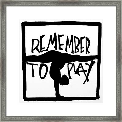 Play Framed Print by Sara Young
