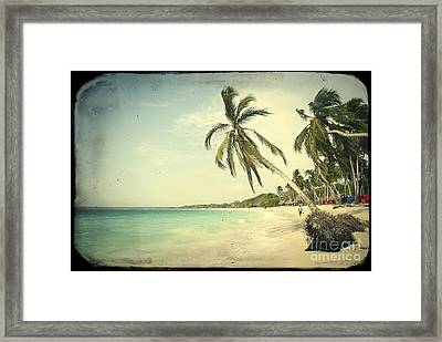 Playa Blanca In Colombia Framed Print by A Cappellari