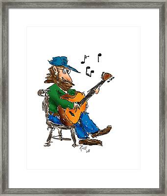 Playing Fer Fun Framed Print by Ross Powell