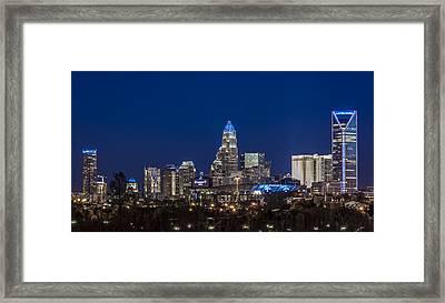 Playoff Blue 2015 Framed Print by Chris Austin