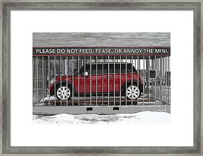 Please Do Not Feed Tease Or Annoy The Mini Framed Print by Teresa Zieba