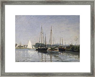 Pleasure Boats Argenteuil Framed Print by Claude Monet