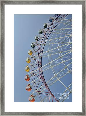 Pleasure Town Ferris Wheel Framed Print by Andy Smy
